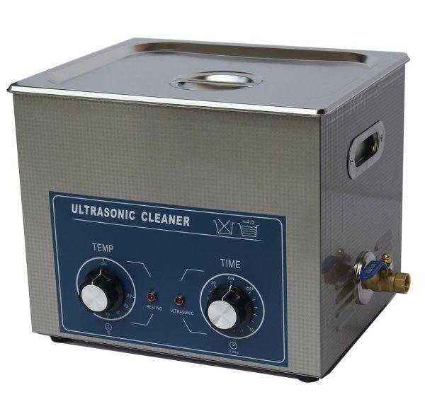 画像1: 【ダイヤル式 10L/80kHz 超音波洗浄機】 タイマー/ ヒーター/中型洗浄器クリーナー 業務用 (1)