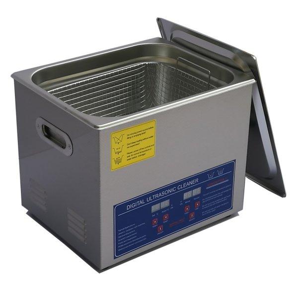 画像1: 【デジタル式 10L/80kHz 超音波洗浄機】 タイマー/ヒーター/中型洗浄器クリーナー 業務用 (1)