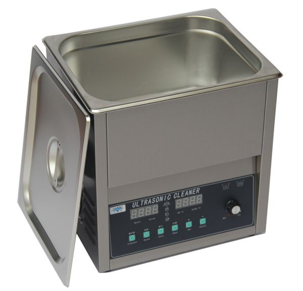 画像1: 【スマートデジタル式 10L/80kHz 超音波洗浄機】タイマー/ヒーター/ パワー調節/DEGAS/スイープ機能/中型洗浄器クリーナー 業務用 (1)