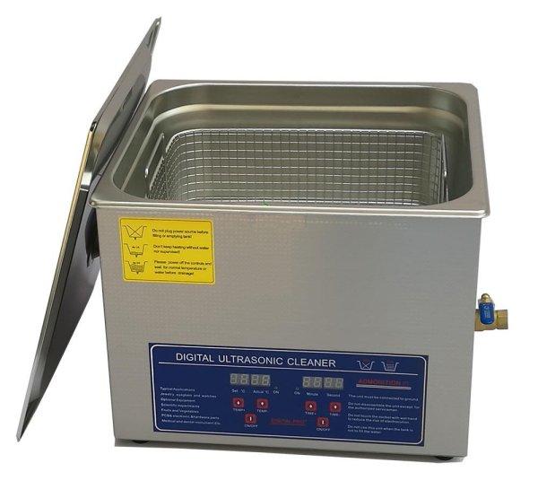 画像1: 【デジタル式 15L/40kHz 超音波洗浄機】 タイマー/ヒーター/中型洗浄器クリーナー 業務用 (1)