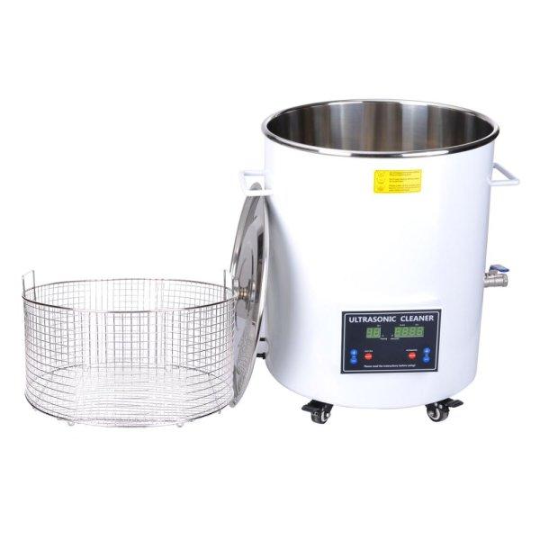 画像1: 【樽型 32L/40kHz 超音波洗浄機】 タイマー/ヒーター/大型洗浄器クリーナー 業務用 (1)