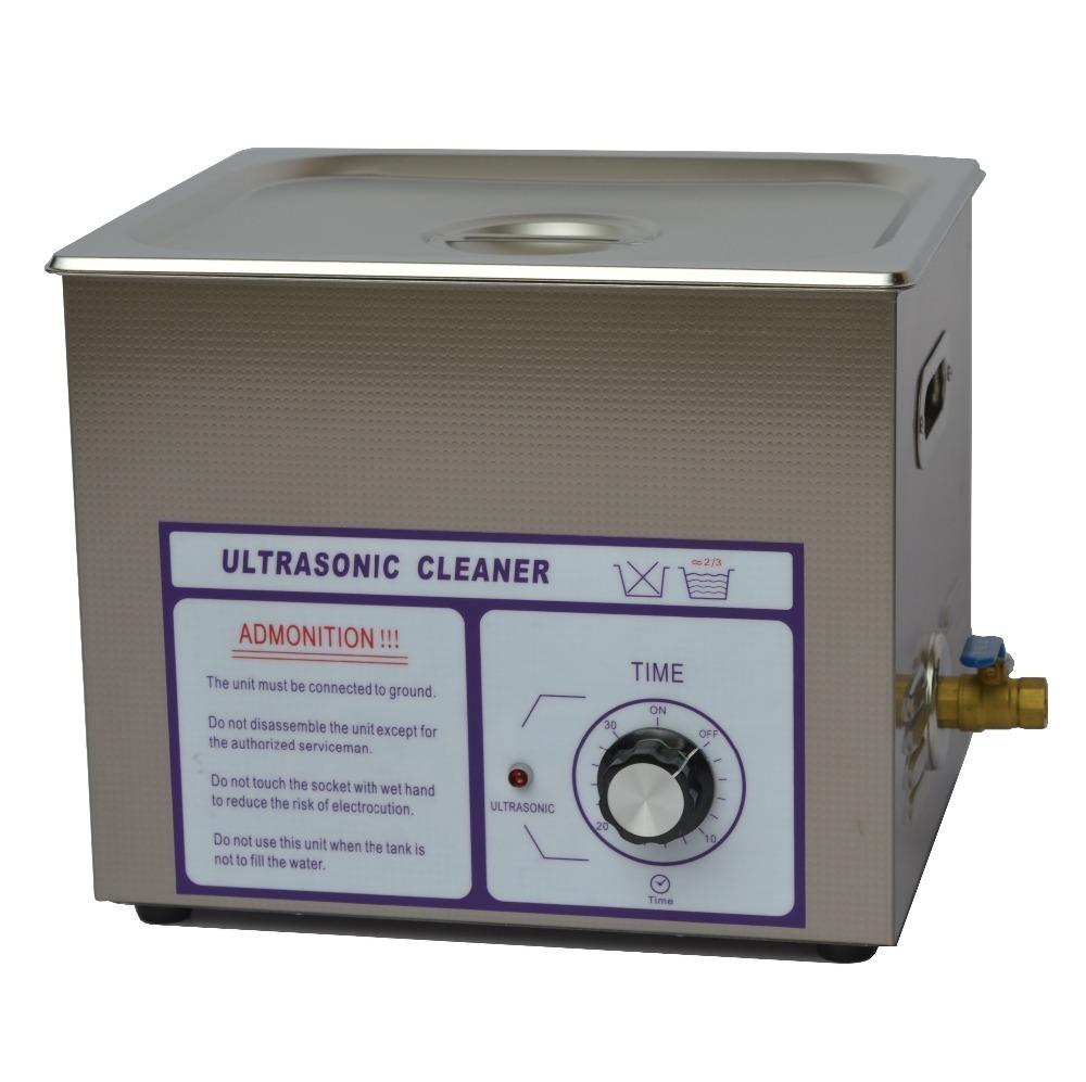 【ダイヤル式 10L/40kHz 超音波洗浄機】 タイマー/中型洗浄器クリーナー 業務用 [40T]